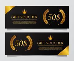 Luxus Premium Geschenkgutschein Banner vektor
