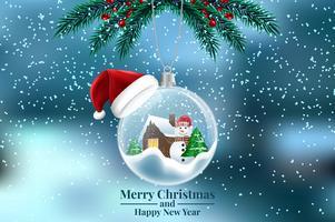 Weihnachtsbaumschmuck Gruß Hintergrund vektor