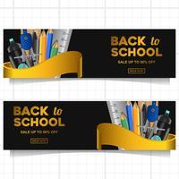Tillbaka till skolan banner mall med stillastående