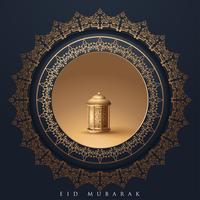 Mall islamisk design för Eid Mubarak