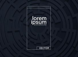 Vektorabbildung eines Labyrinths