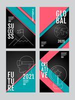 geschäftsbericht 2019, 2020, 2021, 2022 business template layout design vektor