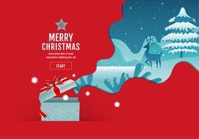 Winterlandschaftsplakat der frohen Weihnachten vektor