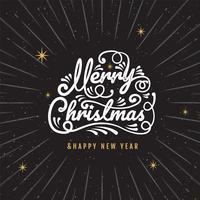 Frohe Weihnachten, guten Rutsch ins Neue Jahr, Logo und Symboldesign vektor