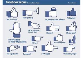 Coola Facebook-ikoner vektor