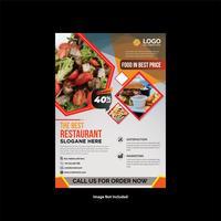 Elegant restaurangreklamblad med tjänster vektor