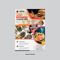 Modern restaurangreklambladdesign vektor