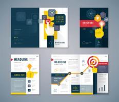 Svart och gult omslagsbokdesign