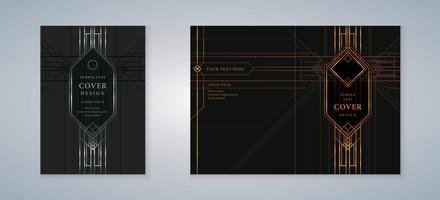 Art-Deco-Cover-Buch-Design-Set vektor