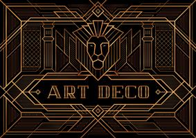 Das große Gatsby-Deko-Art-Plakat vektor
