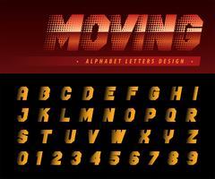 Moving Effect Alphabet Buchstaben und Zahlen