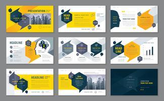 Präsentationsvorlagen, Infografik-Elemente Template-Design-Set