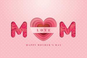 Glückliche Mutter-Tageskarte vektor