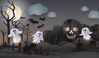 Halloween Night party bakgrund vektor