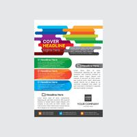 Bunter Firmenkundengeschäft-Flyer-Entwurf