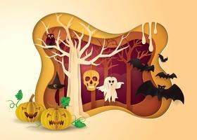 glad halloween fest ram vektor