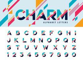Modernes Alphabet Buchstaben und Zahlen