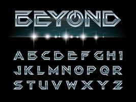 Futuristische Schrift und Alphabet