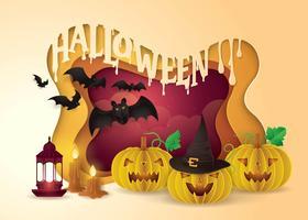 Glücklicher Halloween-Party-Rahmen vektor