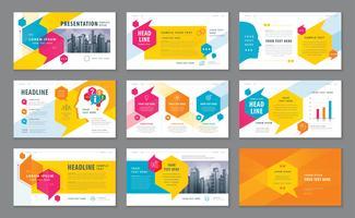 Färgglada abstrakta presentationsmallar