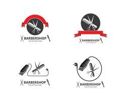 Schererikonenvektor für Friseurgeschäftsillustration