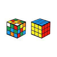 Rubik Würfel auf weiß vektor