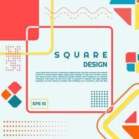 Halvtoner i modern form för fyrkantig design