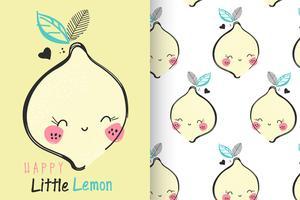 Zitrone mit Mustersatz vektor