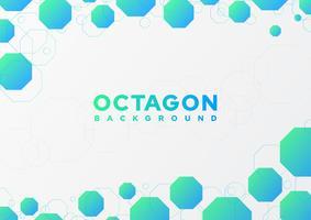 Octagon abstrakt bakgrund vektor