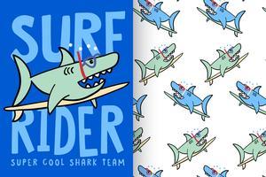 Surf Rider Hai mit Mustersatz