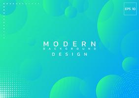 Bunter Hintergrund der Hintergrundkreis-Zusammenfassungsart des modernen Designs mit Halbtonbild. vektor