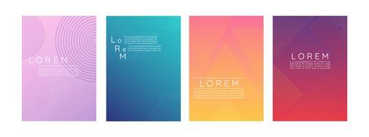 Uppsättning av abstrakt affischer för lutning vektor