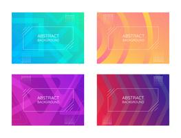 Abstrakte Linie Banner Set vektor