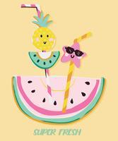 Super frische Wassermelone vektor