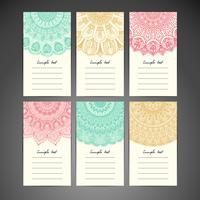 Mandala-Hinweis-Karten-Set