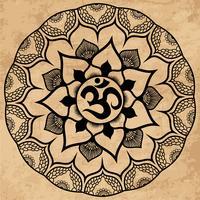 Mandala. Rund prydnad
