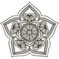 Mandala. Blommig prydnad