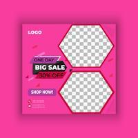 Stor försäljning sociala medier post design