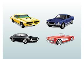 Retro Autos Vektor