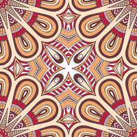 Nahtloses Muster im ethnischen Stil. Vintage dekorative Elemente.