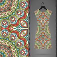 Seamless mönster med klänning vektor