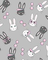 Chic kaninmönster