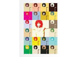 Jim Morrison Pop-Art vektor
