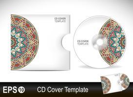 CD-omslagsmall i etnisk stil vektor