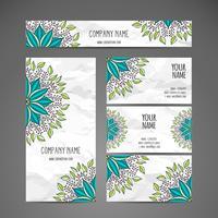Weinlese-Briefpapier-Kartensatz