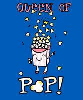 Königin des Pops vektor