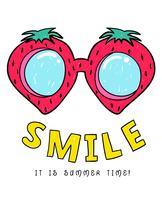 Sommerzeit-Wassermelonen-Gläser vektor