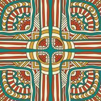 Seamless mönster i etnisk stil. Vintage dekorativa element.