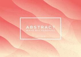 Peach abstrakt vågbakgrund vektor