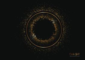Kreisformhintergrund mit Goldfunkeln vektor
